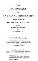Dictionary of National Biography PDF