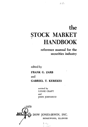 The Stock Market Handbook