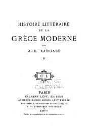 Histoire littéraire de la Grèce moderne: Volume2