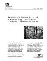 Management of Peatland Shrub  and Forest dominated Communities for Threatened and Endangered Species PDF