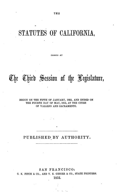 The Statutes of California
