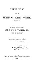 Selections from the Letters of Robert Southey     PDF
