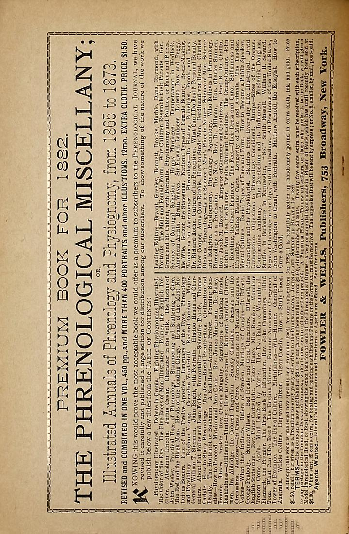 The Phrenological Journal and Science of Health