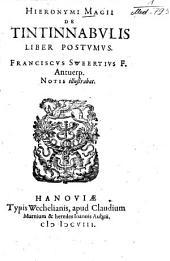 Hieronymi Magii De Tintinnabvlis Liber Postvmvs