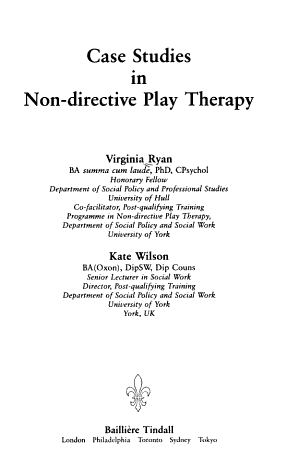 Case Studies in Non directive Play Therapy