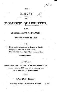 The History of Domestic Quadrupeds  with Entertaining Anecdotes  Adorned with Plates PDF