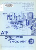 An analysis of the initial year of operation CUE in the cities of Washington  D C   Boston  Mass   Chicago  Ill PDF