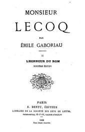 Monsieur Lecoq: Lhonneur du nom