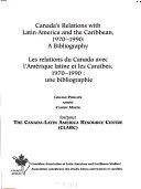 Canada s Relations with Latin America and the Caribbean  1970 1990 PDF