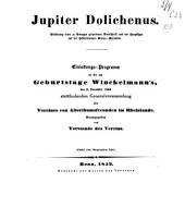 Jupiter Dolichenus: Erklärung einer zu Remagen gefundenen Steinschrift und der Hauptfigur auf dem Hedderheimer Bronze-pyramide