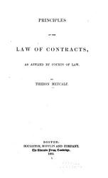 Principles of the Law of Contracts as Applied by Courts of Law PDF