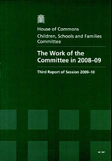 The Work of the Committee In 2008 09 Book