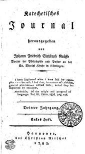 Katechetisches Journal: Dritter Jahrgang. Erstes Heft, Bände 1-4