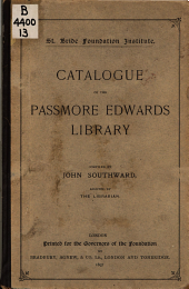Catalogue of the Passmore Edwards Library