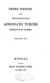Opere inedite di monsignore Adeodato Turchi, vescovo di Parma. Volume 1. [-10.]: Volume 1;Volume 7