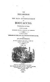 The Decameron: Or Ten Days Entertainment of Boccaccio