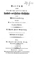 Versuch einer kirchlich politischen Landes und Cultur Geschichte von W  rtenberg bis zur Reformation PDF