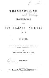 Transactions of the Royal Society of New Zealand: Volume 11