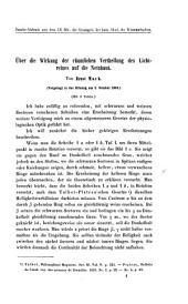 Über die Wirkung der räumlichen Vertheilung des Lichtreizes auf die Netzhaut: vorgelegt in der Sitzung am 3. October 1865