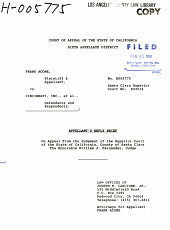 California. Court of Appeal (6th Appellate District). Records and Briefs: H005775, Appellant's Reply