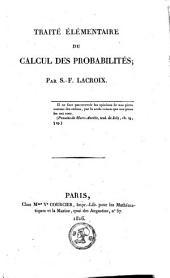 Traité élémentaire du calcul des probabilités