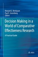 Decision Making in a World of Comparative Effectiveness Research PDF