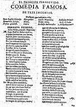 El Principe perseguido. Comedia famosa [in three acts and in verse] de tres ingenios [L. Bermudez de Belmonte, A. Martinez and A. Moreto y Cabaña].