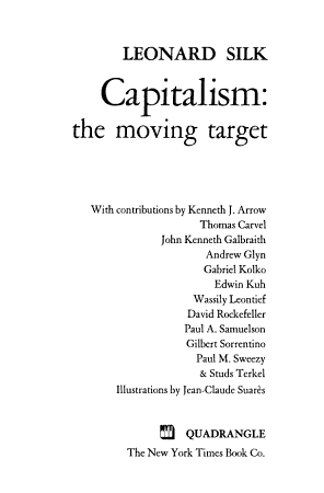 Capitalism  the Moving Target PDF