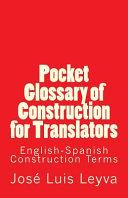 Pocket Glossary of Construction for Translators