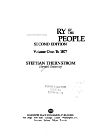 A History of the American People  To 1877 Book