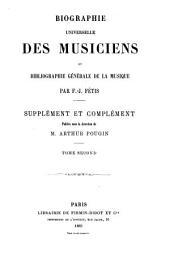 Biographie universelle des musiciens et bibliographie générale de la musique: Supplément et complément, Volume1