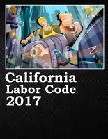 California Labor Code 2017 PDF