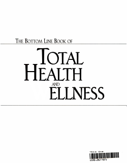 The Bottom Line Book of Total Health and Wellness PDF
