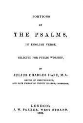 Portions of the Psalms in English Verse