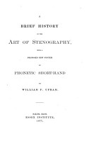 A Brief History of the Art of Stenography PDF