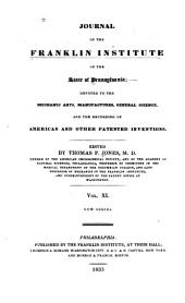 Journal of the Franklin Institute: Volume 11; Volume 15