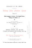 Catalogue of the Library of the Late Bishop John Fletcher Hurst       cat  no  338   Americana  Nov  28 29  1904 PDF