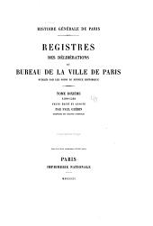 Registres des délibérations du bureau de la ville de Paris: 1590-1594. Texte édité et annoté par P. Guérin