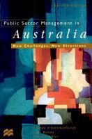Public Sector Management in Australia PDF