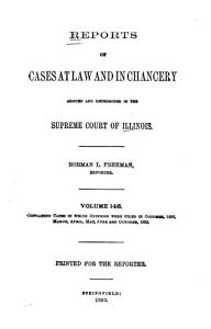 Reports of Cases at Law and in Chancery Argued and Determined in the Supreme Court of Illinois Book