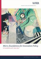 Micro foundations for Innovation Policy PDF