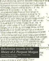 Babylonian Records in the Library of J. Pierpont Morgan: Babylonian business transactions of the first millennium B.C.- v.2 Legal documents from Erech dated in the Seleucid era (312-65 B.C.)