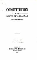 Constitution of the State of Arkansas  with Amendments  PDF