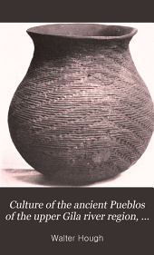 Culture of the ancient Pueblos of the upper Gila river region, New Mexico and Arizona