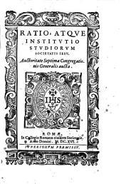 Ratio, atque institutio studiorum Societatis Iesu