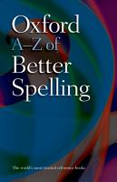 Oxford A Z of Better Spelling PDF