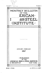 Bimonthly Bulletin of the American Iron and Steel Institute: Volume 5