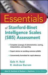 Essentials of Stanford-Binet Intelligence Scales (SB5) Assessment