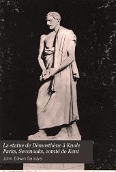 La statue de Démosthène à Knole Parks, Sevenoaks, comté de Kent