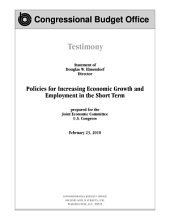 Policies for Increasing Economic Growth and Employment in the Short Term: Congressional Testimony